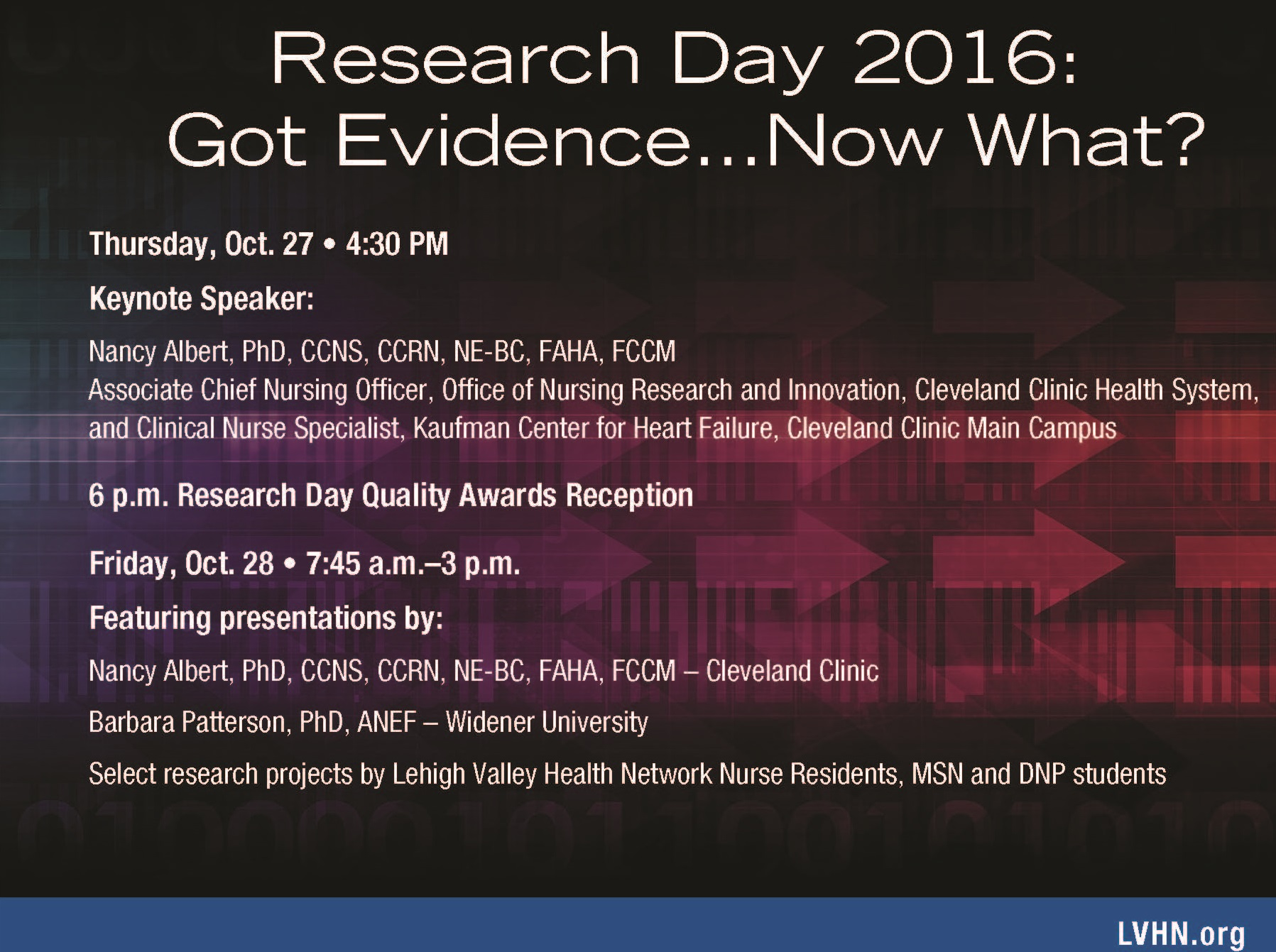 Research Day 2016: Got Evidence.... Now What?
