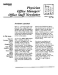 Physician Office Manager / Office Staff Newsletter