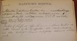 Allentown Hospital's first patient