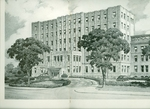 Drawing of the Allentown Hospital. by Lehigh Valley Health Network