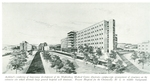 Drawing of the Muhlenberg Hospital by Lehigh Valley Health Network
