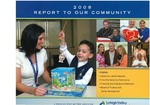 Annual Report (2008): Report to Our Community